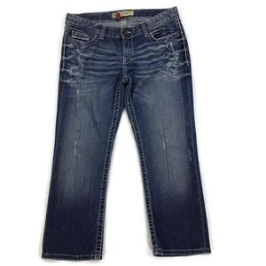 BKE Buckle Sabrina Capris Women's 30 Cropped Jeans